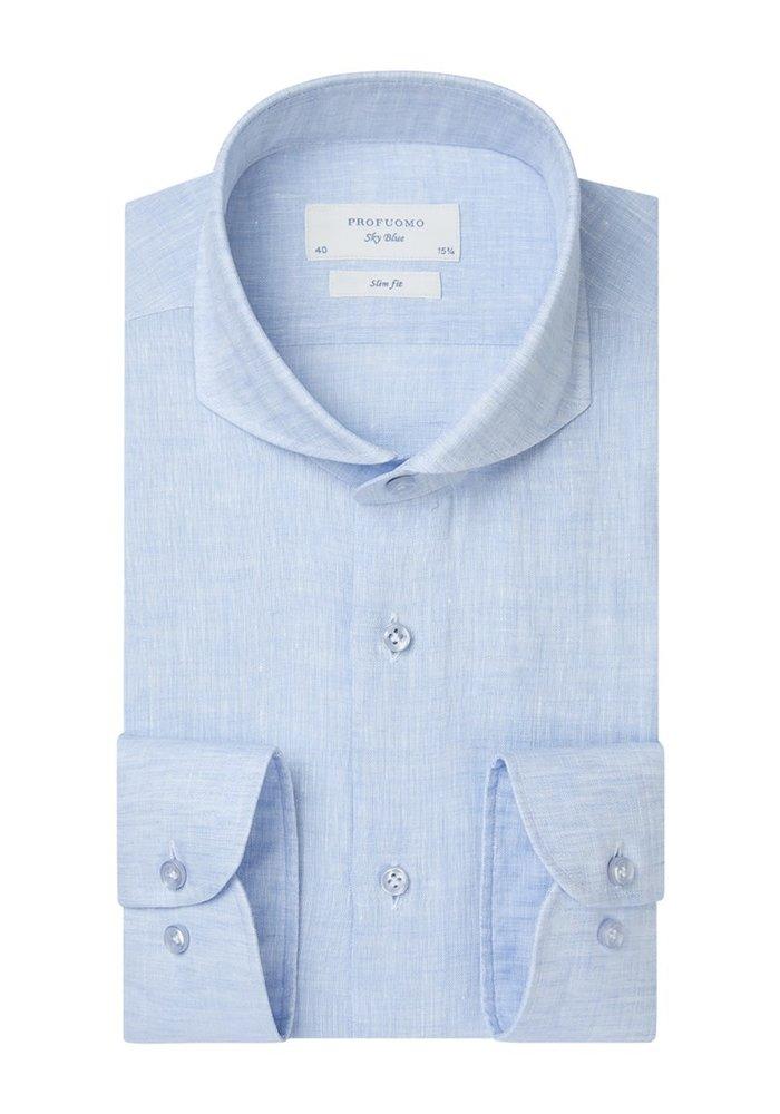 Profumo Shirt Linnen Light Blue