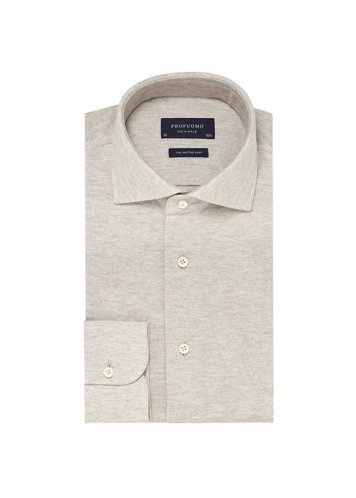 Profuomo Profuomo Shirt The Knitted Beige