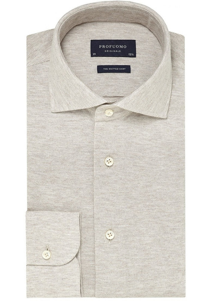 Profuomo Shirt The Knitted Beige