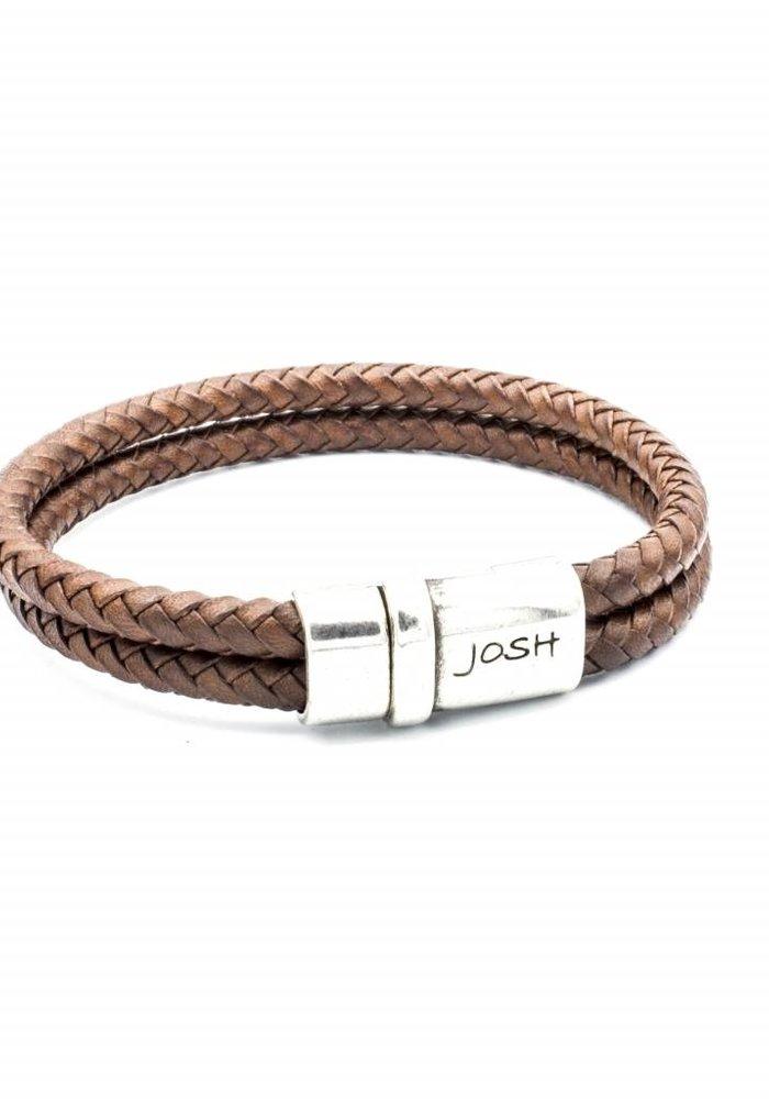 Josh Armband Cognac Satin 09176