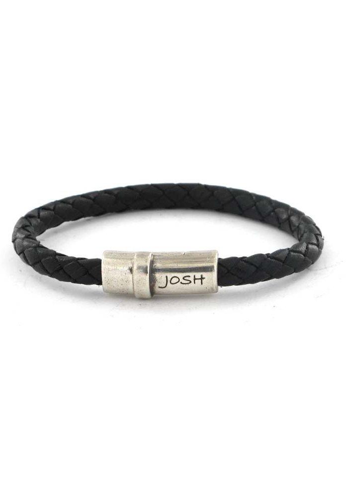 Josh Armband Black Satin 09121