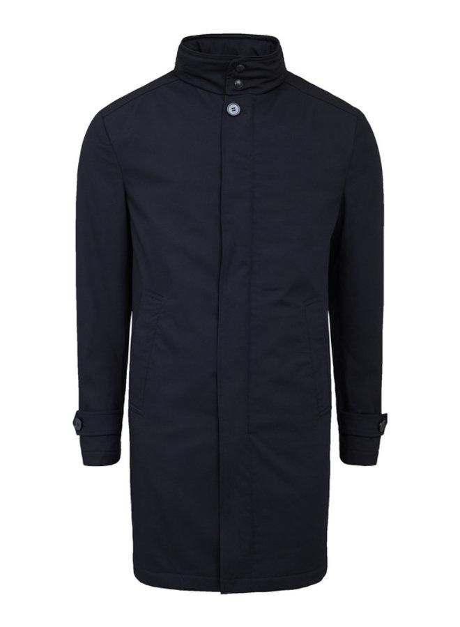 Bruun & Stengade Coat California Slim Dark Navy