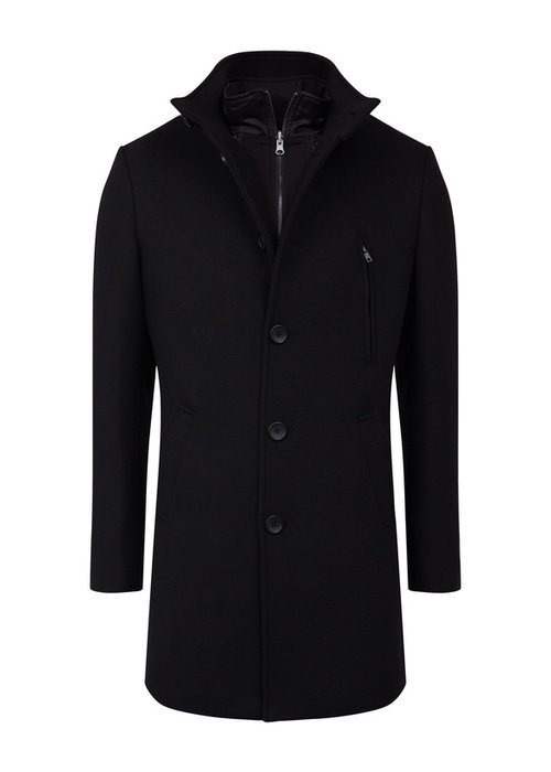 Bruun & Stengade Bruun & Stengade Coat Arizona Slim Black