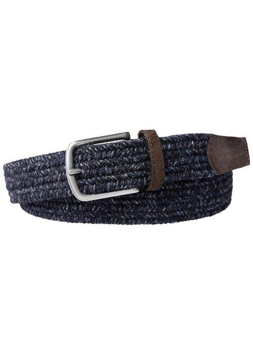Profuomo Profuomo Belt Braided Wool Navy Mel