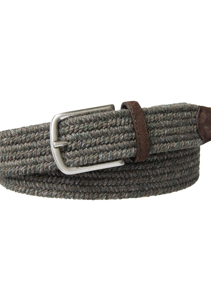 Profuomo Belt Braided Wool Taupe Mel