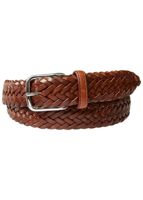 Profuomo Profuomo Belt Handbraided Leather Cogn