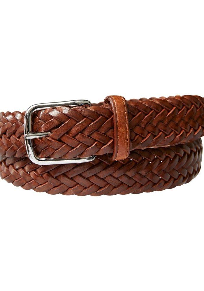 Profuomo Belt Handbraided Leather Cogn