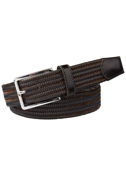 Profuomo Profuomo Belt Braided Brown Leather