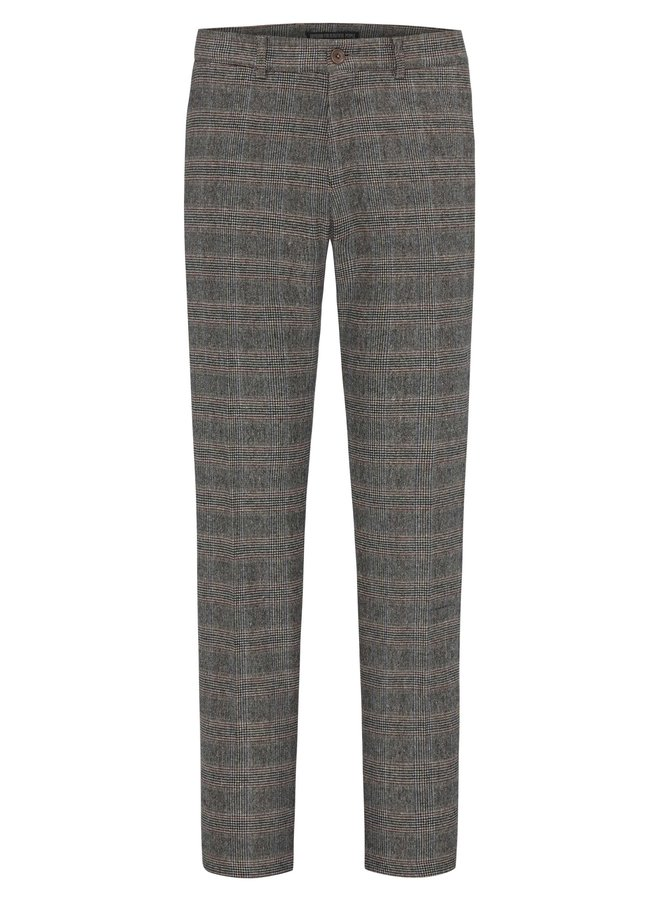 Drykorn Chino Mad Red/Grey Pattern Wool 146064