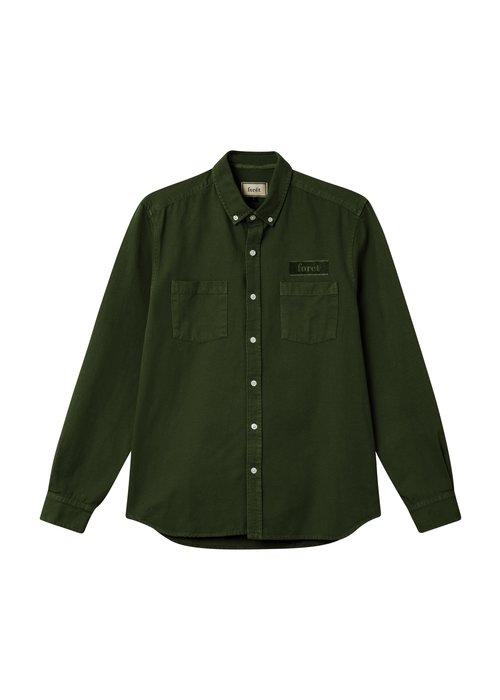 Forét Forét Bear Canvas Shirt Dark Green