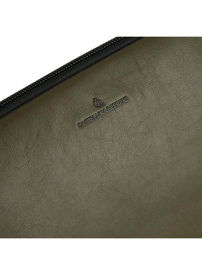 """Castelijn & Beerens 40 9248 DM Oscar Laptopsleeve 13"""" Groen"""