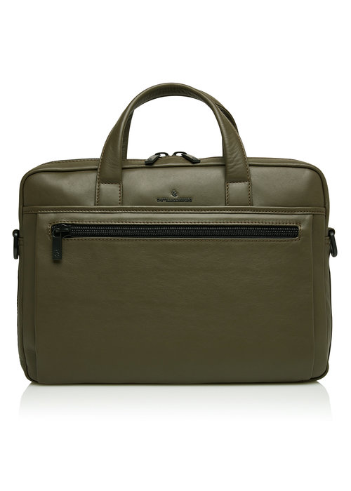 """Castelijn & Beerens Castelijn & Beerens 40 9472 DM Echo Laptoptas 15,6"""" plus Tablet Groen"""