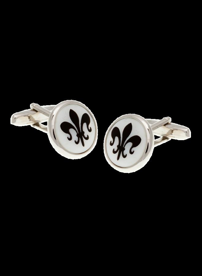Les Deux Fréres Cufflink White Fleur
