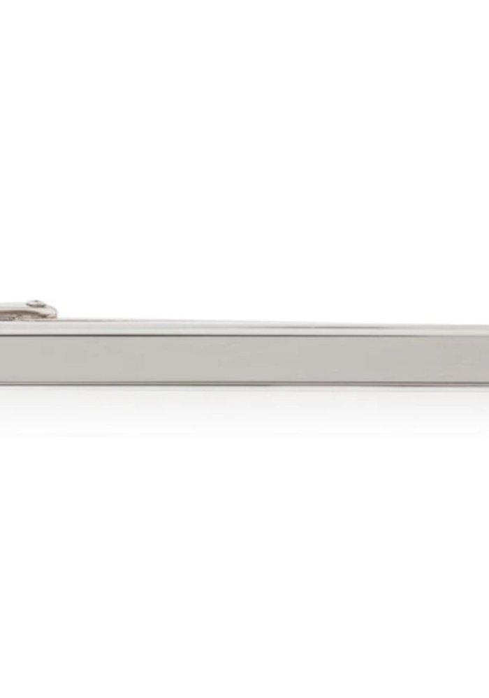 Les Deux Fréres Plain Silver Step Tie Slide AEPTS001