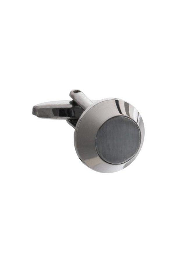 Les Deux Fréres Cufflink Beacon Gun Metal AEPCL2732