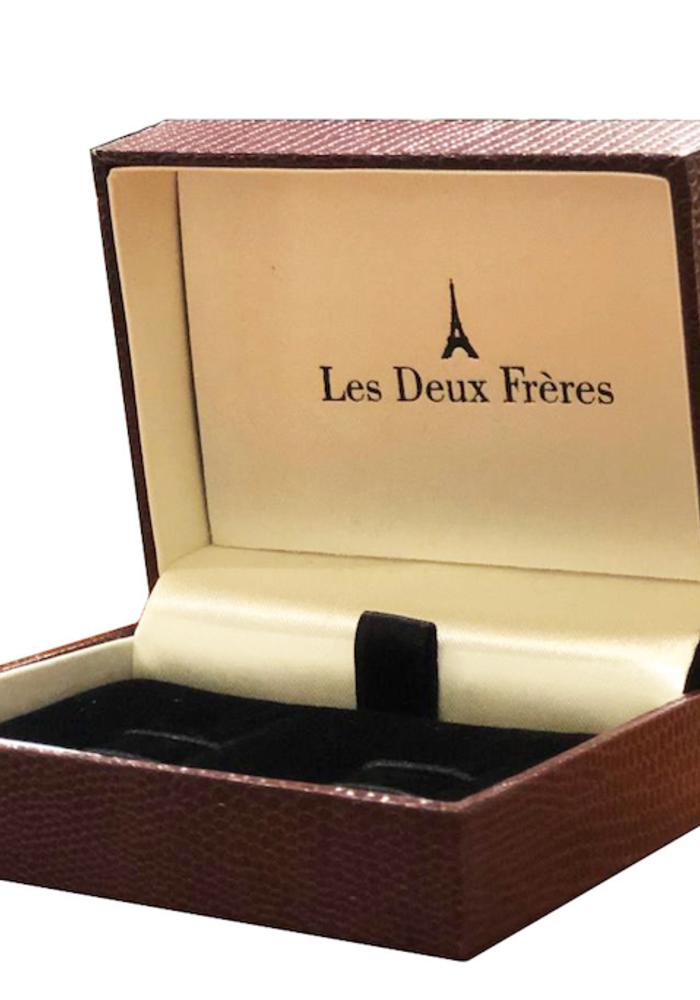 Les Deux Fréres Cufflink Fleur De Lys Set AEPDS012X4CL