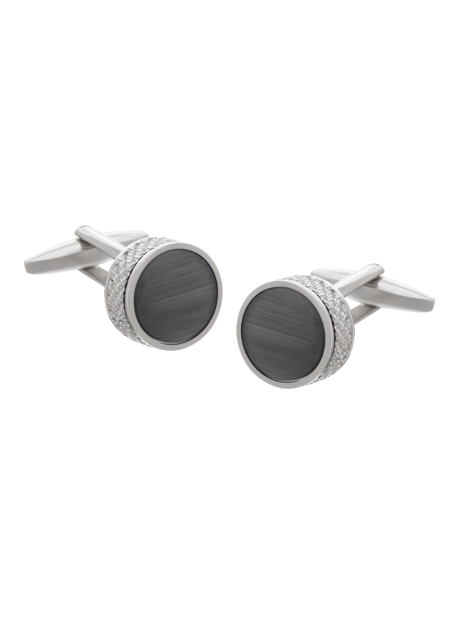 Les Deux Fréres Cufflink On the Edge Black AEPCL2802