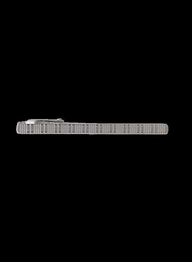 Les Deux Fréres Textured Check Tie Slide AEPTS032