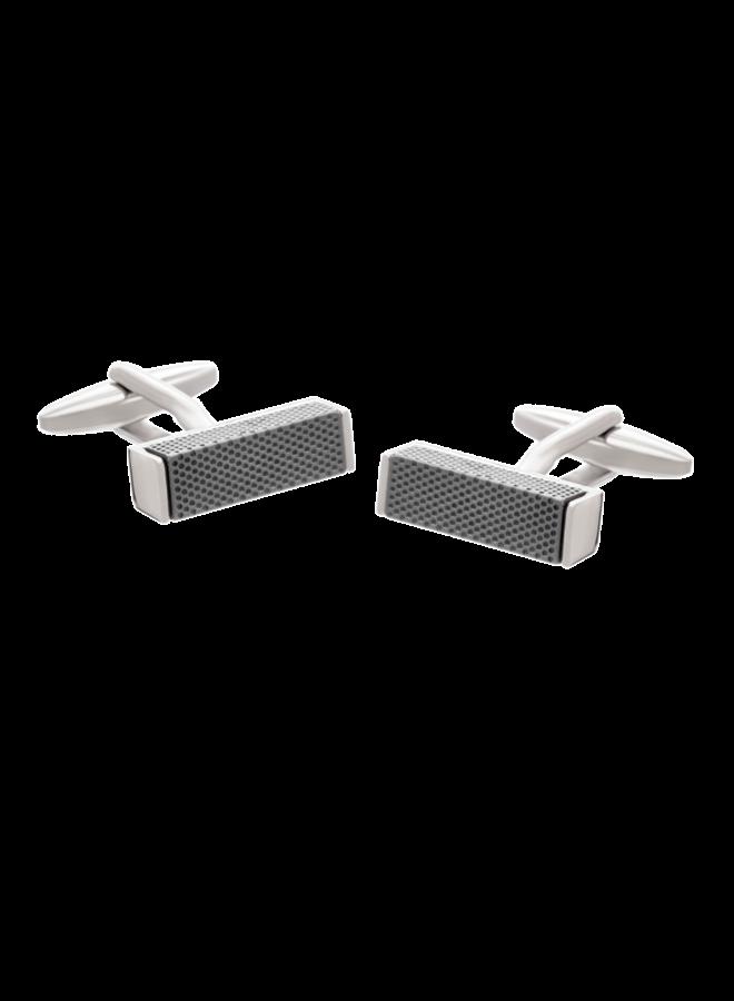 Les Deux Fréres Cufflink Textured Metal Blocks AEPCL2032