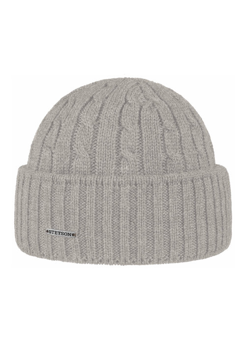 Stetson Stetson 8699352-3  Cable Knit Beanie Mid Grey