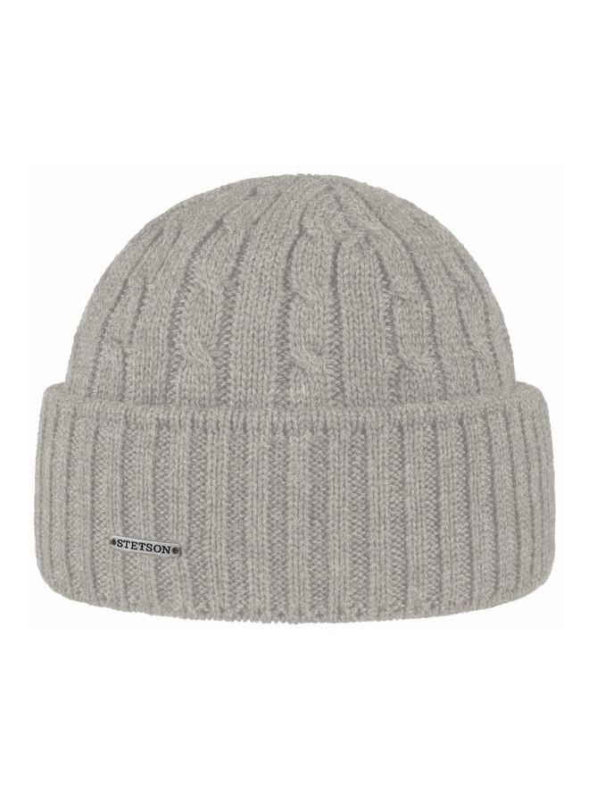 Stetson 8699352-3  Cable Knit Beanie Mid Grey