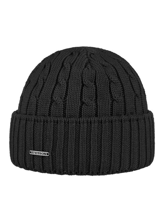 Stetson 8699352-1 Cable Knit Beanie Black