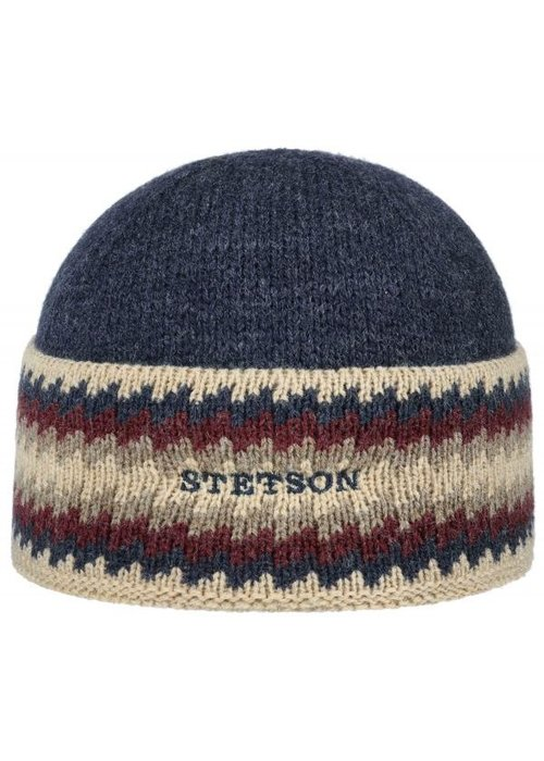 Stetson Stetson 8539302 Beanie Navy Striped
