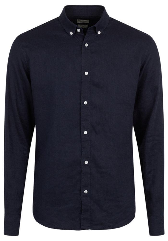Bruun & Stengade Nagano Shirt Slim Navy