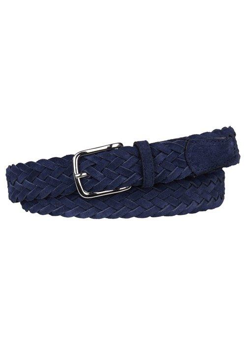 Profuomo Profuomo Belt Braided Blue Suede