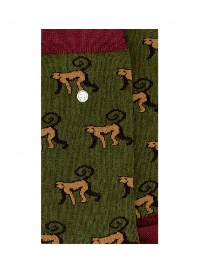 Alfredo Gonzales Socks Monkeys Army/Brown