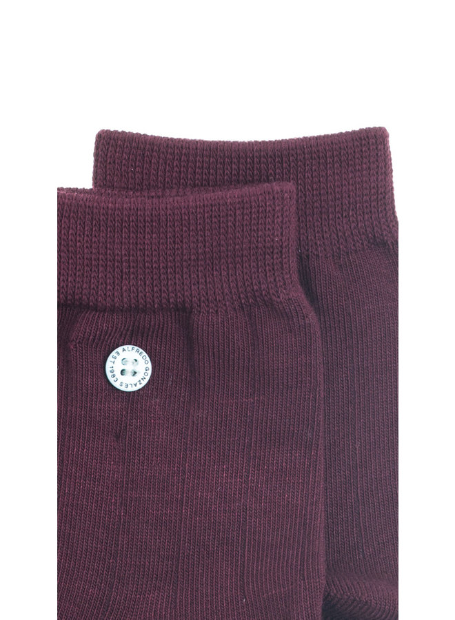 Alfredo Gonzales Socks Pencil Classic Burgundy