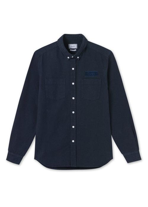 Forét Forét Shirt Bear Canvas Midnight Blue