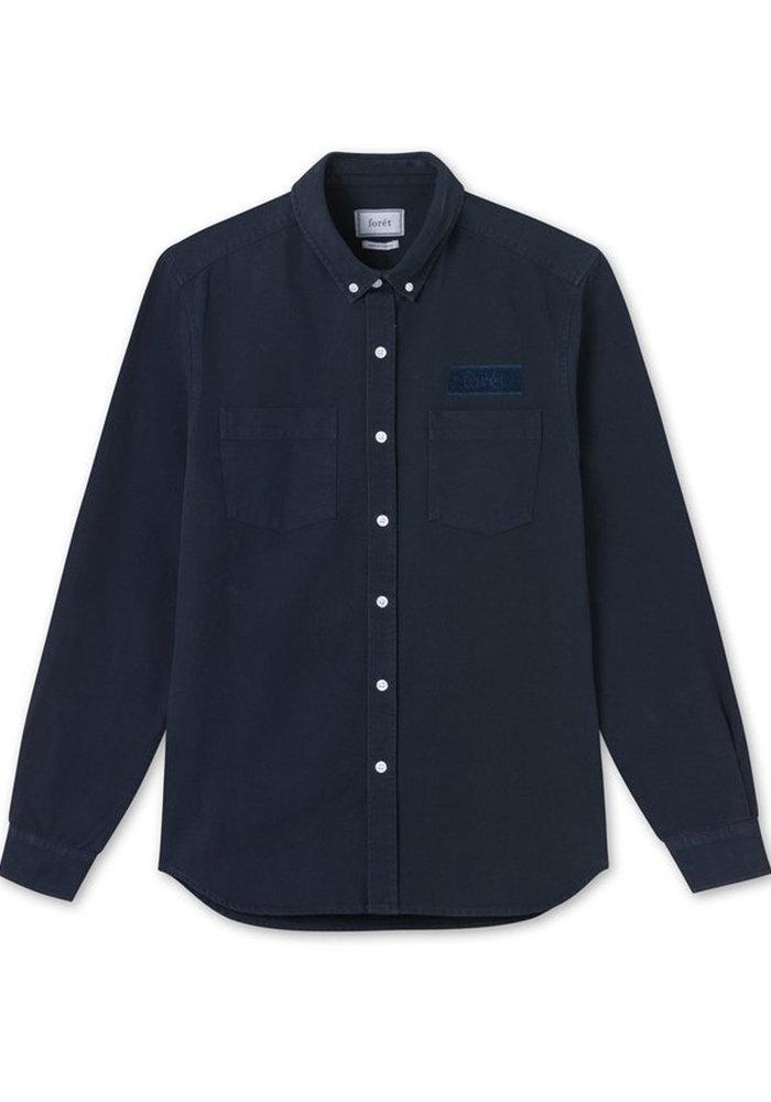 Forét Shirt Bear Canvas Midnight Blue