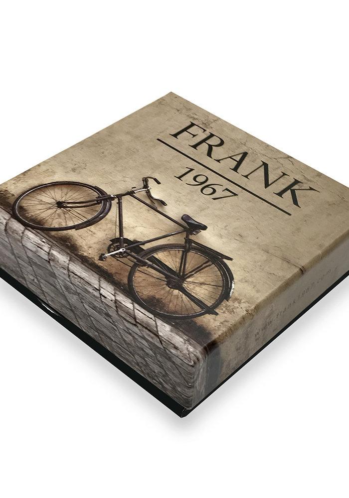 Frank 1967 Bracelet Woven Nylon Black Orange