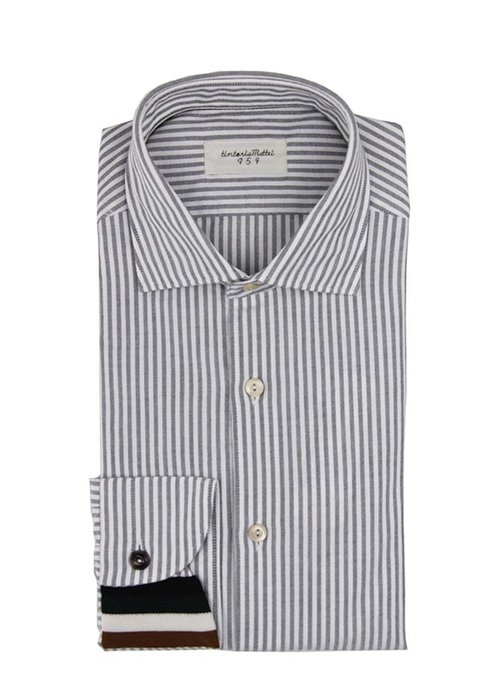 Tintoria Mattei Tintoria Mattei Oxford Striped White/Black