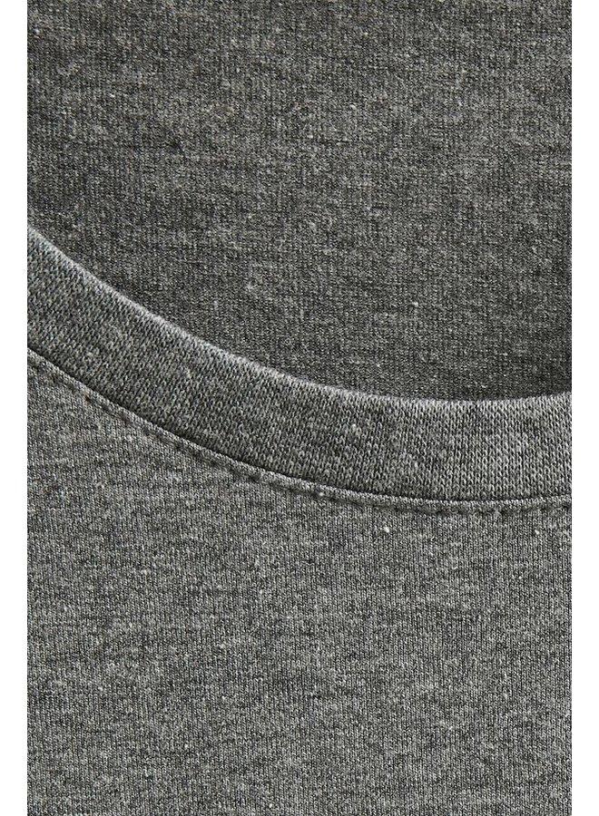 Matinique Jermalink Cotton Stretch T-shirt Mid Grey Melange