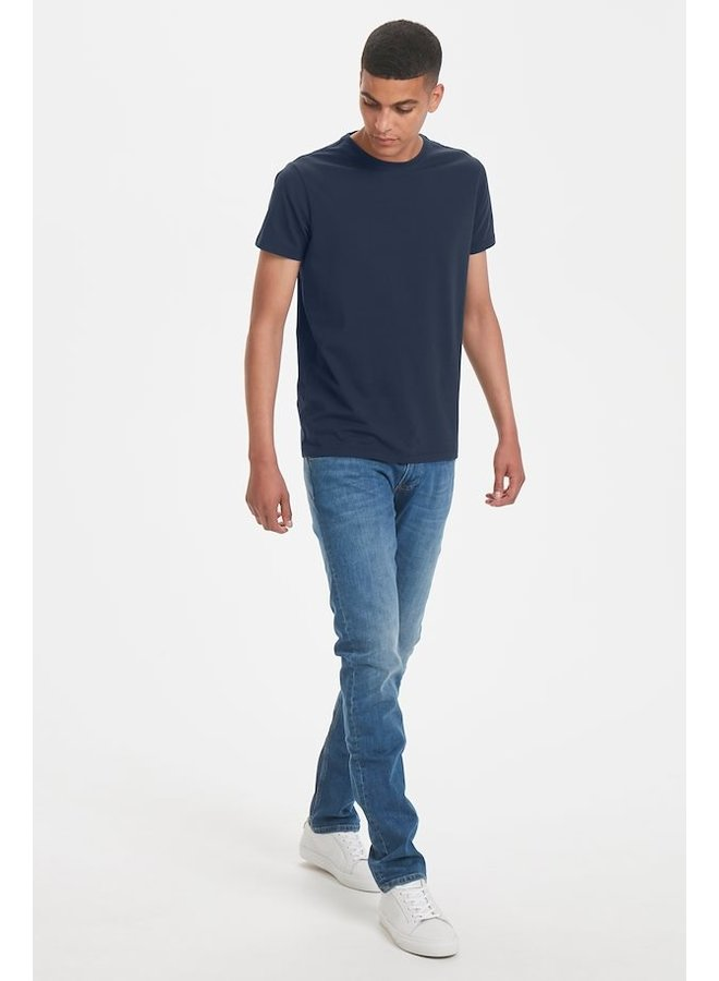 Matinique Jermalink Cotton Stretch T-shirt Midnight Blue