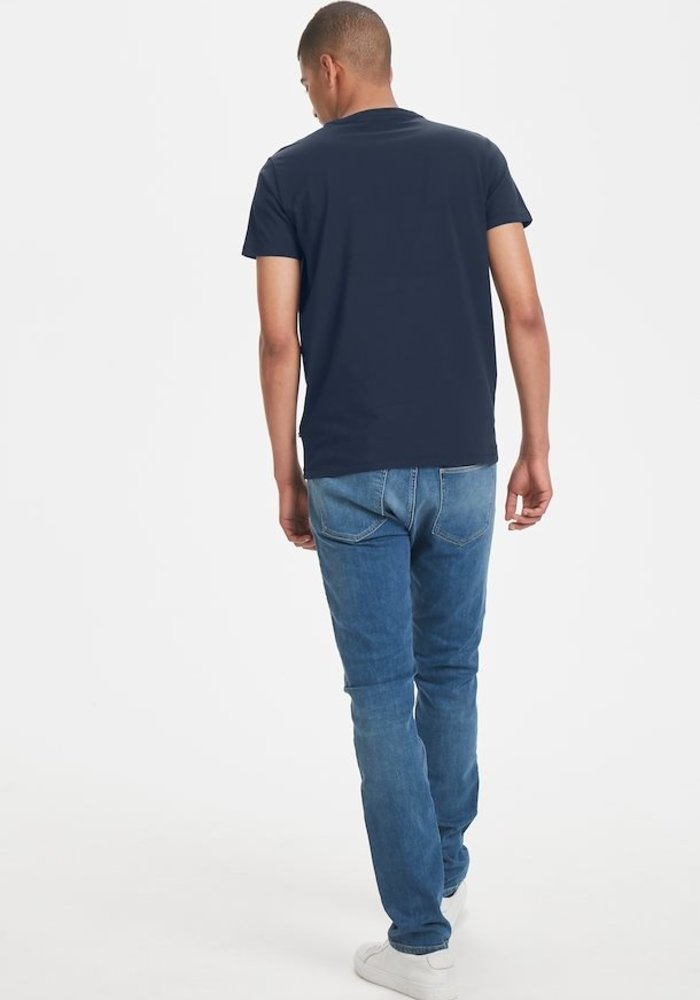 Matinique Jermalink Cotton Stretch T-shirt Midnight Blue