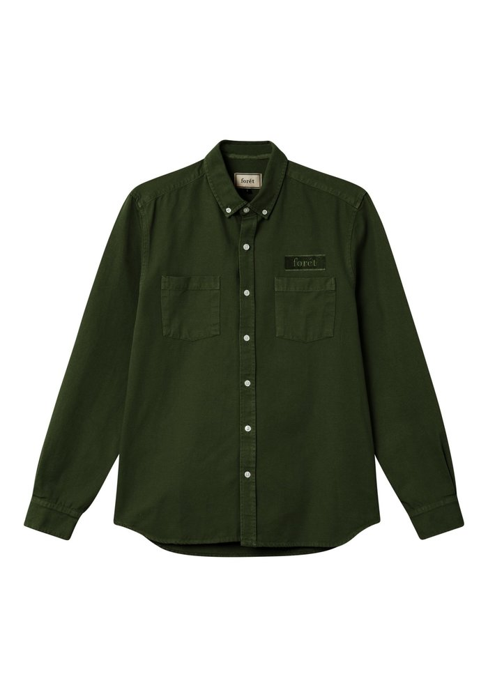 Forët Bear Canvas Shirt Dark Green