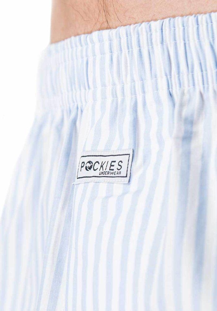 Pockies Underwear Boxer Baby Stripes Blue