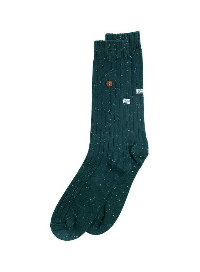 Alfredo Gonzales Socks Speckled Cotton Army  S