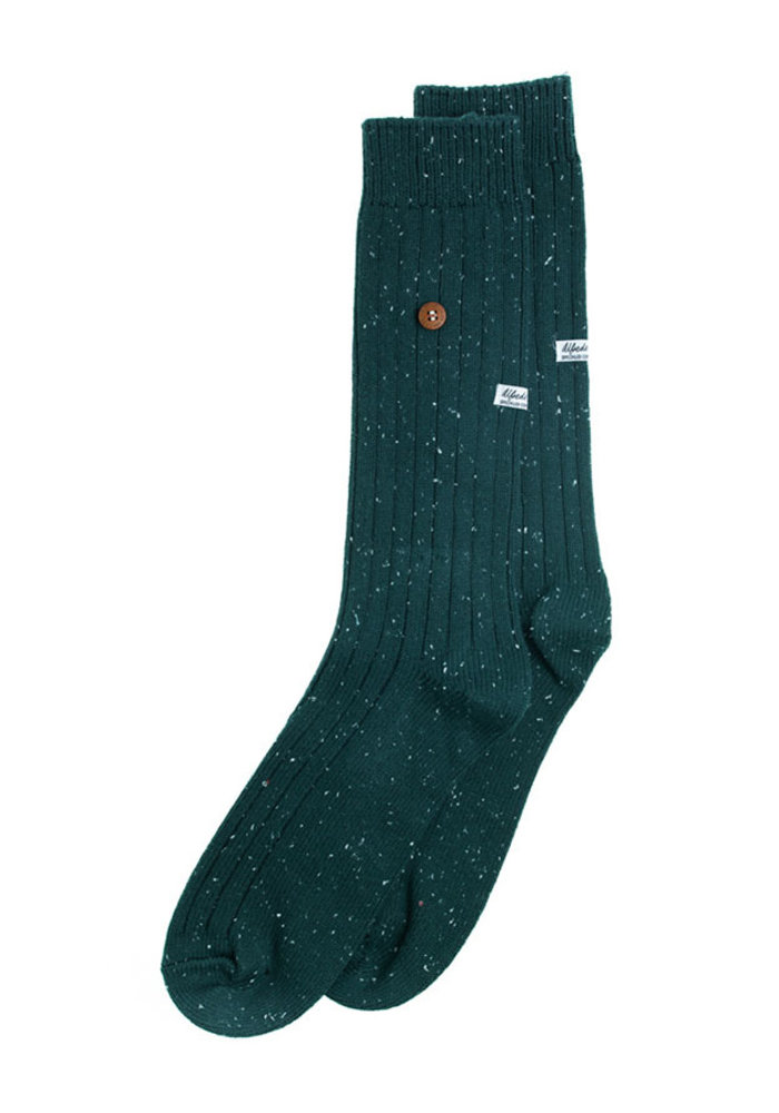 Alfredo Gonzales Socks Speckled Cotton Army