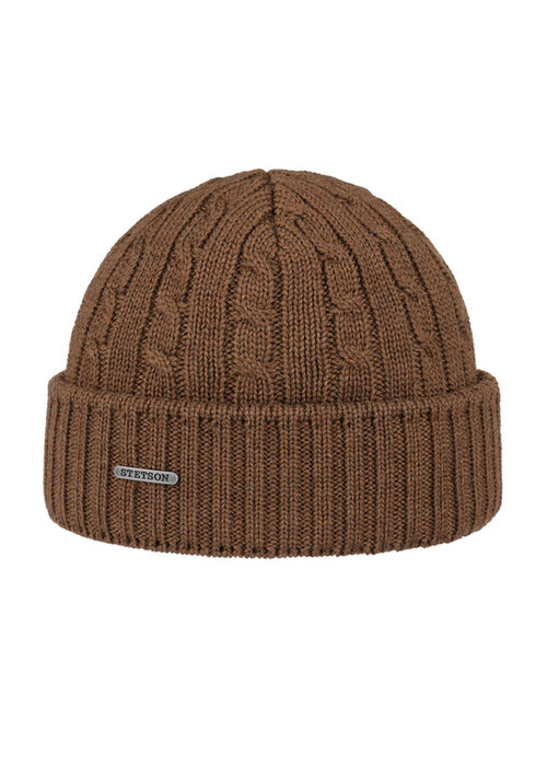 Stetson Stetson 8699352-67  Cable Knit Beanie Brown
