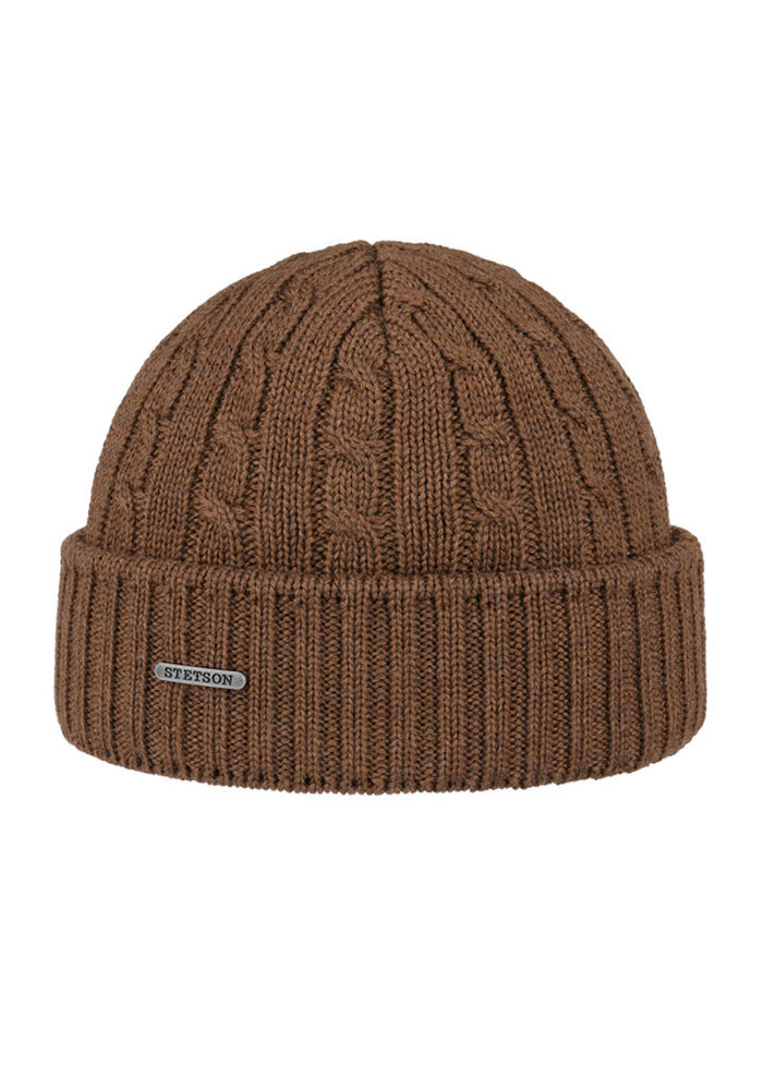 Stetson 8699352-67  Cable Knit Beanie Brown