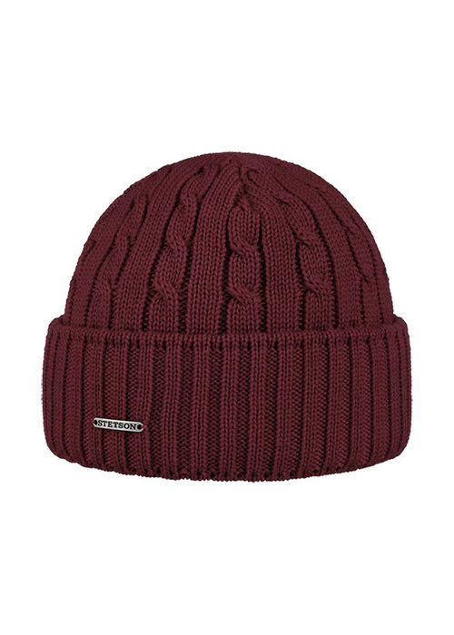 Stetson Stetson 8699352-67  Cable Knit Beanie Bordeaux