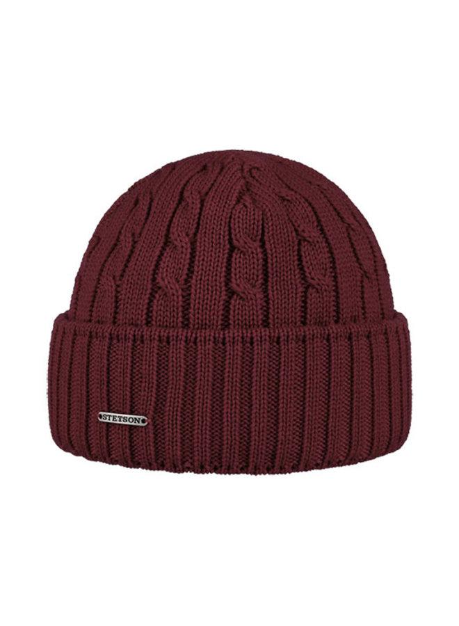 Stetson 8699352-67  Cable Knit Beanie Bordeaux