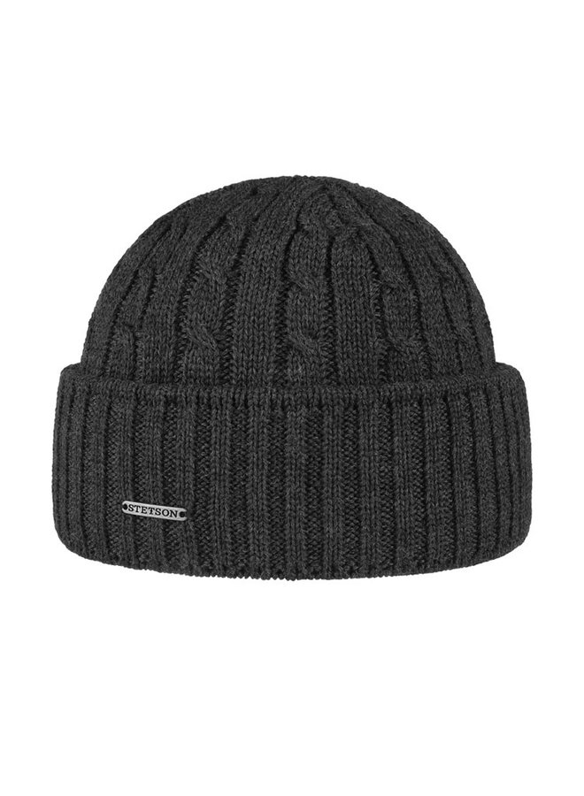 Stetson 8699352-33  Cable Knit Beanie Charcoal