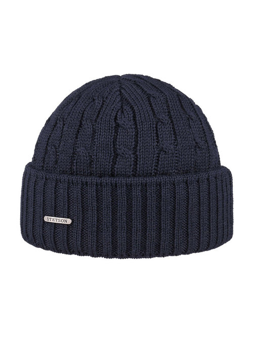 Stetson Stetson 8699352-2 Cable Knit Beanie Navy