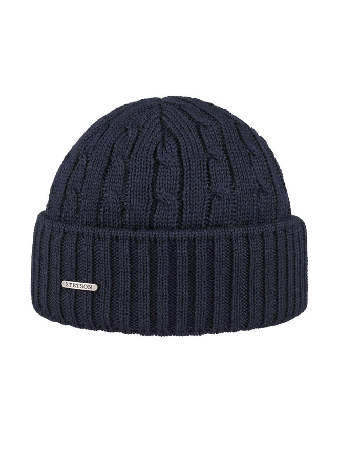 Stetson 8699352-2 Cable Knit Beanie Navy