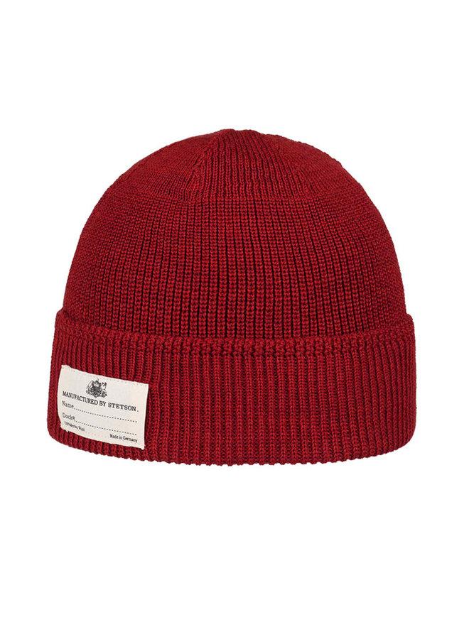 Stetson 8599319-8 Plain Beanie Bright Red